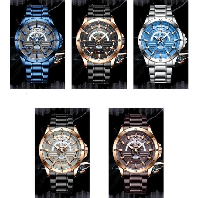 CURREN montre-bracelet mains lumineuses, en acier inoxydable, à Quartz, tendance, décontracté