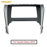 FEELDO Car Radio Audio Stereo 2DIN Fascia Frame For Toyota Camry 2012 Dash Panel Installation Trim Kit