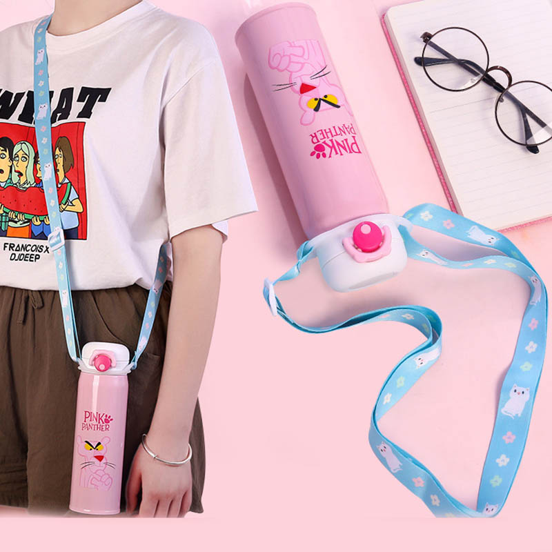 Travel Accessories Woman Thermos Mug Lanyard Back Belt Luggage Shoulder Strap Portable Baby Bottle Water Water Buckle Organizer