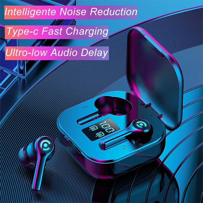 Hembeer es1 fone de ouvido sem fio bluetooth fones de ouvido jogos com microphonefor todo o telefone