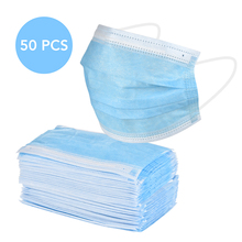 3 Layer Filter Disposable Medical Mask Anti-dust Mouth Nose Proof Face Masks Blue Bacteria Proof Mouth Face Mask
