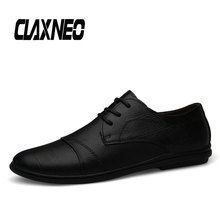 Buy CLAXNEO Man Shoes Casual Leather Shoe Retro Vintage Male Walking Footwear Handmade luxury brand directly from merchant!