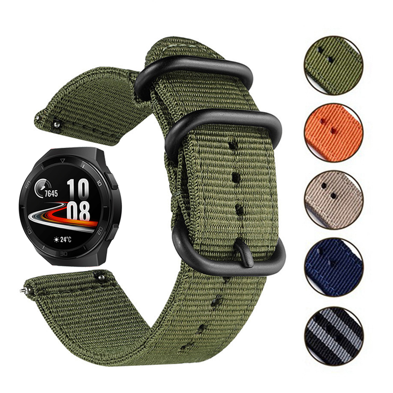 For Huawei Watch GT 2E/ GT/GT2 46mm Smart Watch Bands Nylon Sports Wrist Strap For Honor Watch Magic 2 22mm Bracelet Accessories