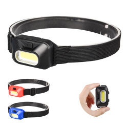 Mini COB LED Headlamp hoofdlamp Headlight frontal flashlight For Outdoor Camping Fishing Head Light Lamp Torch Lantern AAA