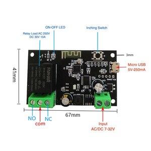Image 3 - チュウヤDC5V 12v 24v 32 wifiスイッチ無線中継モジュール単一方向インチング/自己ロックタイミングリモートスイッチappリモコン