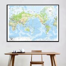 60x90cm The World Mercator Projection Map HD Canvas Spray Painting For Living Room Wall Decor Painting seated nude by pablo picasso hd canvas painting print living room home decor modern wall art oil painting poster salon pictures