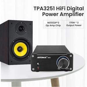 Image 2 - AIYIMA TPA3251 디지털 오디오 증폭기 HIFI 전력 증폭기 2.0 가정 소형 직업적인 Amp NE5532 175W * 2 최고 TDA7498E/TPA3116