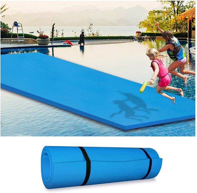 220CM Kids Water Play Mat Pad Large Floating Water Play Pad Pool Playing Mat Yard Outdoor Fun Swimming Pools For Kids Baby Adult 1