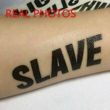 3x bdsm multi-língua tatuagens temporárias à prova d3água erótico kinky jogo de sexo jogo quente sm fetiche adesivos para mestre e escravo