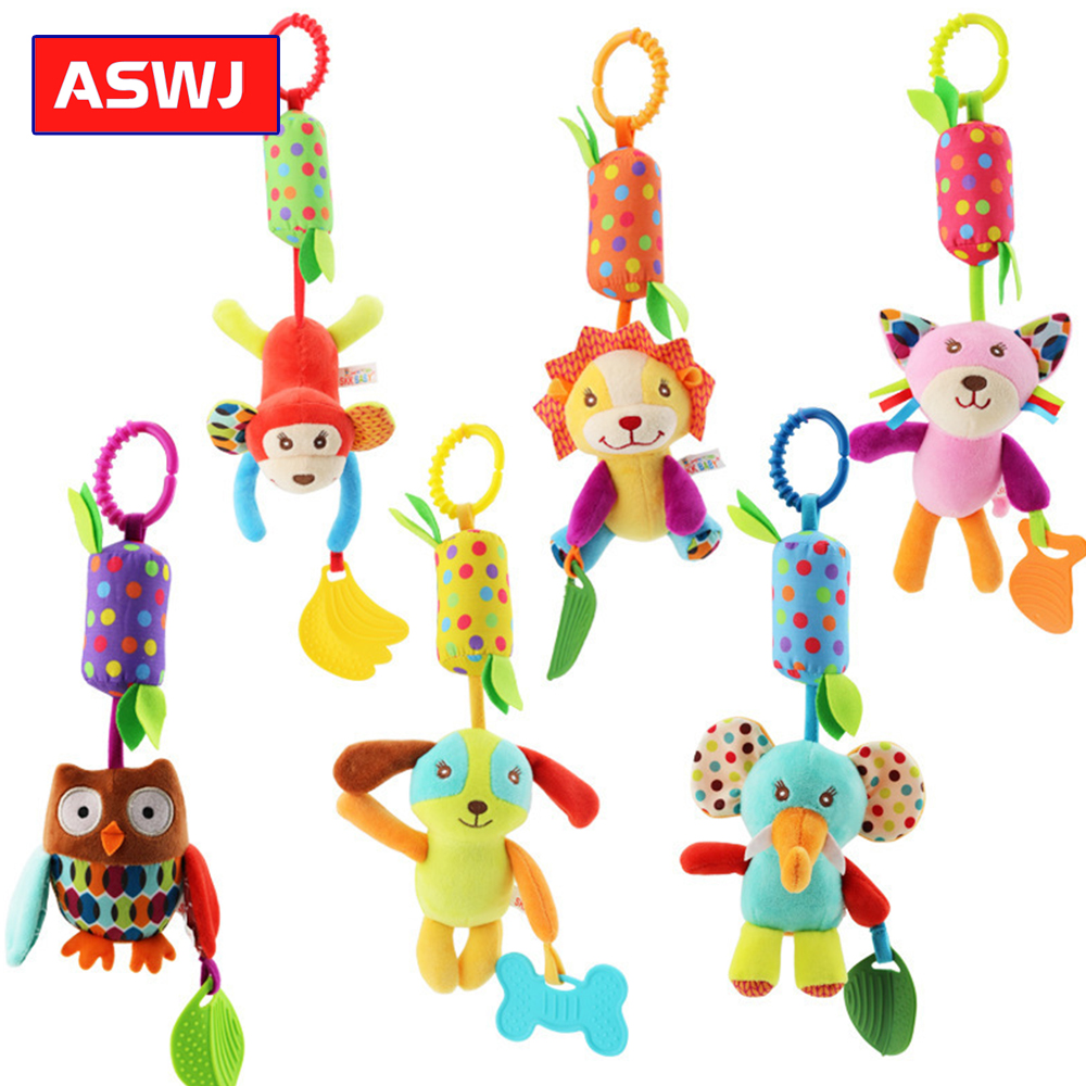 2019 New Animal Wind Chime Bed Hanging Cart Pendant Bell With Teether Wind Chime Car Educational Toys For Newborns