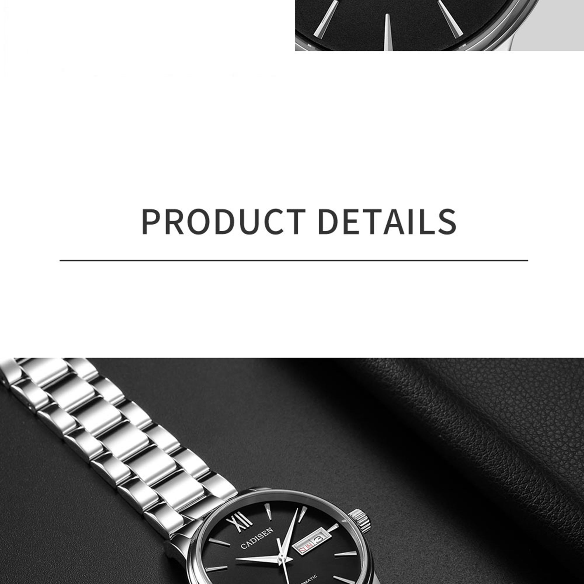 H41a321f2f90f4e588f99e5e91ff17e7er CADISEN Men Watch Automatic Mechanical Watches Role Date Week Top Luxury Brand Japan NH36A Wrist watch Clock Relogio Masculino