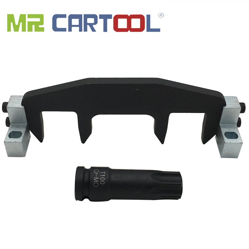 MR CARTOOL Professional Camshaft Locking Tools Engine Timing Tool Set For Mercedes Benz M271 C200 C180 E260 With T100 Sleeve