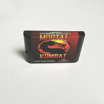 Mortal Kombat - EUR Cover With Retail Box 16 Bit MD Game Card for Megadrive Genesis Video Game Console 2