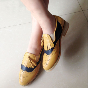 Image 5 - Women oxford Spring shoes genuine leather loafers for woman sneakers female oxfords ladies tassel single shoes 2020 summer shoes