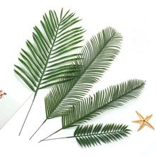 New Monstera 20pcs Artificial Fake Palm Leaves Leaf-shaped Green Plants Wedding DIY Decoration Flowers Arrangement Plant Leaf(China)