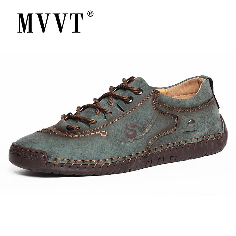 New 2020 Soft Leather Men Shoes Casual Split Leather Shoes Men Loafers Comfort Walking Shoes Men Flats Hot Sale Moccasins Shoes