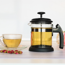 Manual 1000ML Tea Pot French Press Coffee/Tea Brewer Coffee Maker 1000ML Stainless Steel Glass For Coffee and Tea lux 1000ml