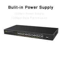 Gigabit POE Network Switch 24Ports 10/100M+2Ports 1000M Intelligent Network Management Switch for IP Camera 802.3af 802.3at