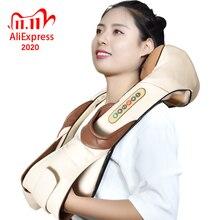 Neck Massager Elektrische Shiatsu für Zurück Körper Shouder Massage Roller Auto Relaxer Massageador Masajeador Gesundheit Pflege