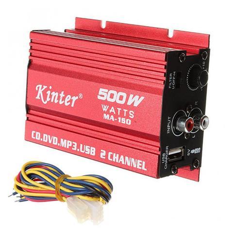 amplificador de audio hi fi estereo 500w mini liga de aluminio 2 canais amp subwoofer
