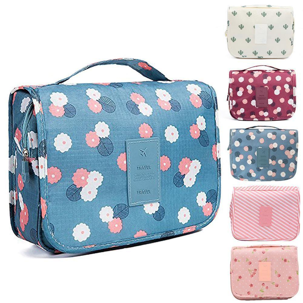 Women Travel Cosmetic Make Up Bags Hanging Professional Wash Toiletry Bag Daily Supplies Hanging Toilet Organizer Bag Portable