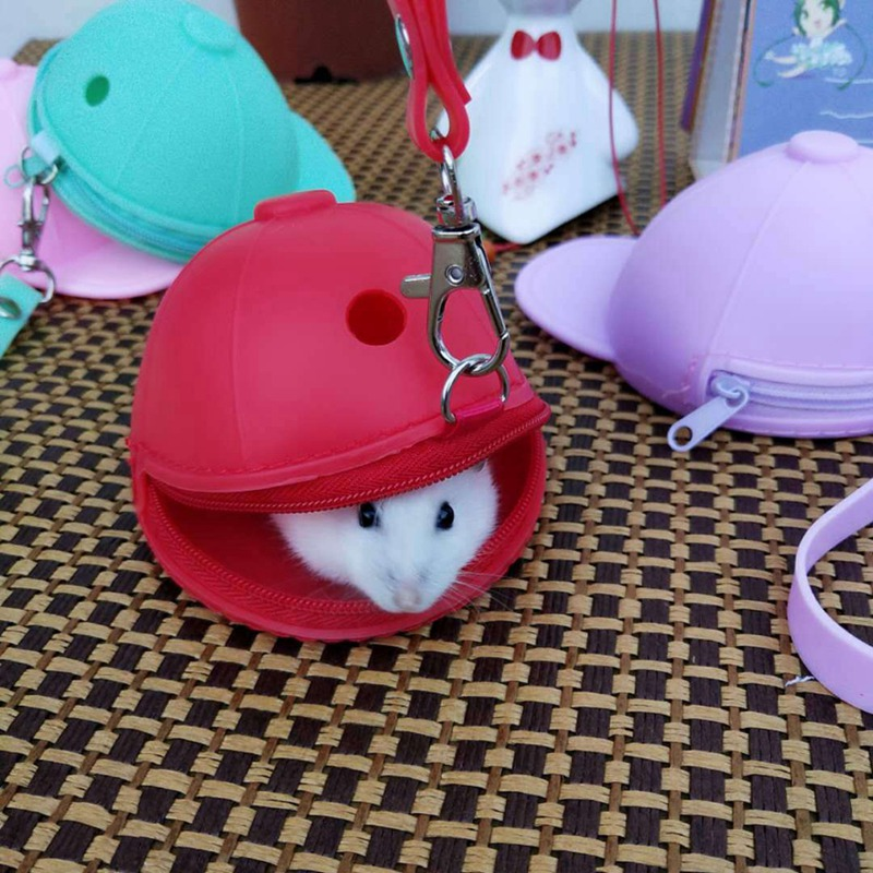 Cute Small Pet Carrying Bag Hamster Outgoing Carrier With Handheld Strap Multipurpose Travel Zipper Type Bag
