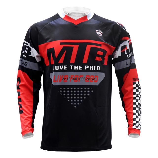 Odzież MTB nowy rower górski motocykl jazda na rowerze Off wyścigi drogowe koszulka damska koszulka rowerowa koszulka zjazdowa człowiek z długim rękawem tanie i dobre opinie CN (pochodzenie) Poliester Stretch Spandex Pełna Wiosna summer AUTUMN Winter Koszulki Nie zamek Pasuje mniejszy niż zwykle proszę sprawdzić ten sklep jest dobór informacji