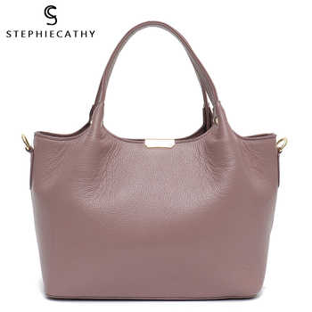 SC 100% Genuine Leather Bucket Bag Women casual Tote top-handle Shoulder Bags Brand Designer Ladies Crossbody messenger Bag - DISCOUNT ITEM  52% OFF All Category