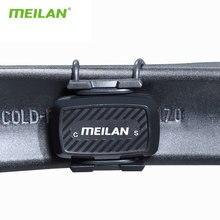 Velocímetro de cadencia de bicicleta, sensor Bluetooth para ciclismo 4,0 ANT +, pista de rotación interna Meilan C1 para GARMIN BRYTON igpsport XOSS