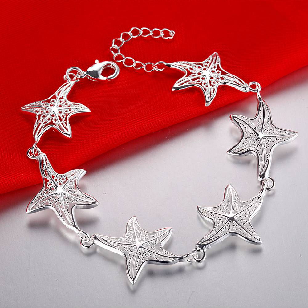 Creative twist circle chain women men silver color bracelets new high -quality fashion jewelry Christmas gifts H070 4