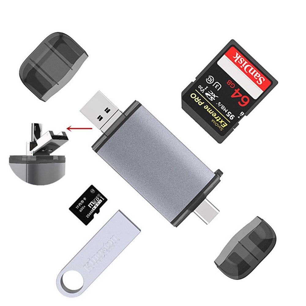 Micro leitor de cartão sd usb 3.0 leitor de cartão 2.0 para usb micro sd adaptador flash drive tipo leitor de cartão de memória inteligente leitor de cartão c