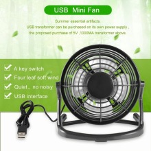 Portable USB Fan Mini Cooler Cooling Desk Super Mute Coolerfor Notebook Laptop Computer With key switch