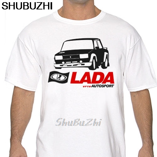 shubuzhi Summer Men'S Brand Clothing O-Neck <font><b>Lada</b></font> VFTS Autosport Rally White or Gray T Shirt wrc 2105 <font><b>2107</b></font> WRC sbz3486 image