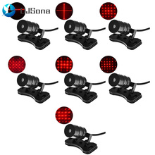 цена на Universal LED Car Motorcycle Laser Fog Light Anti Collision Tail Lamp Auto Moto Braking Parking Signal Warning Lamps Car styling