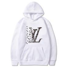 2021 Hip Hop Fall/Winter Fashion Hoodie Men Brand Letter Hoodie Long Sleeve Hoodie Men's Sportswear Sweatshirt