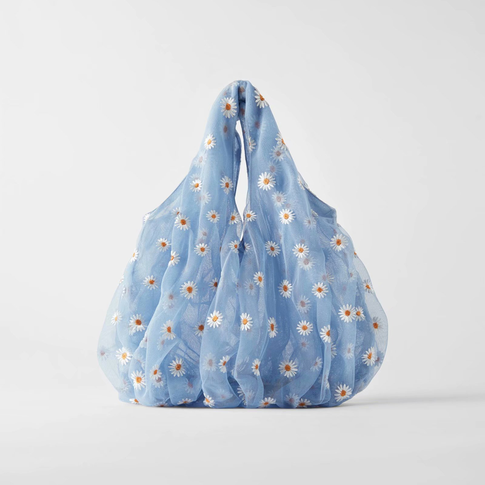 Za 1:1 Women Bag Floral Printed Chiffon Handbag