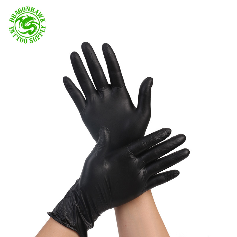 100 Strong Size SMALL Black Nitrile Latex FREE Disposable Gloves Tattoo Artist