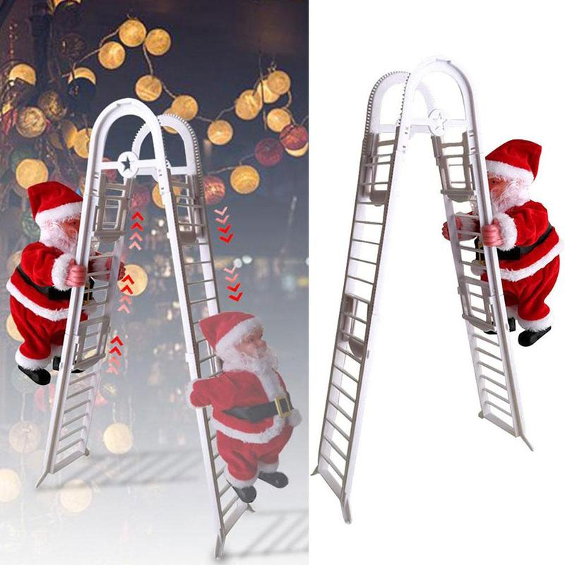 Electric Ladder Santa Claus Toy Lovely Music Christmas Interactive Climb Ladder Children Gifts Funny Toys