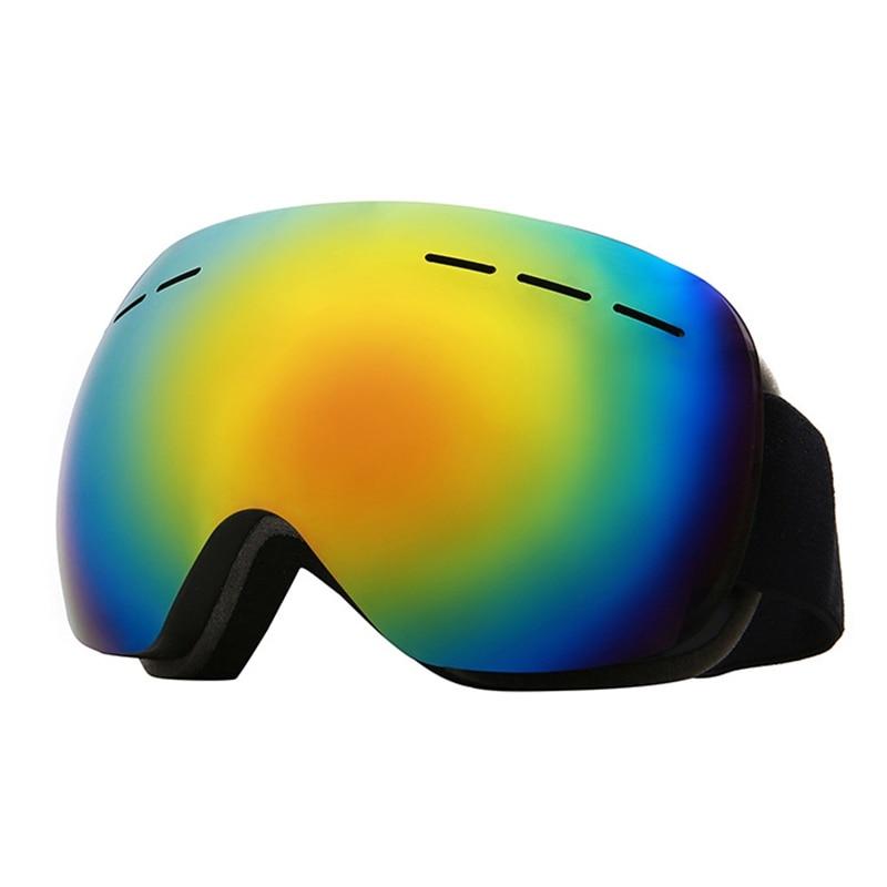 Outdoor Sports Riding Cross-Country Mask Goggles Double Anti-Fog Windproof Ski Mask Glasses Ski Unisex Snow Snowboard Ski Goggle