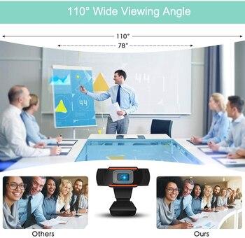 Webcam 1080P 720P 480P Full HD Web Camera Built-in Microphone USB Plug Web Cam For PC Computer Mac Laptop Desktop YouTube Skype 4