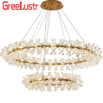 New Design Luxury Chandelier Lighting Fixtures  Luxurious G4 Led Lustre Hang Lamp for Living Room Hotel Home Decor Chandeliers new design large crystal chandeliers lighting fixtures lustre de cristal led light chandelier living room lamps