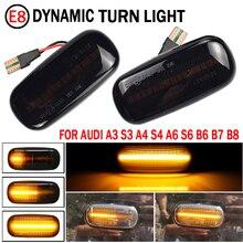 2PCS גבוהה כוח מעושן עדשת אמבר LED מול פנדר צד מרקר אורות לאאודי A3 S3 8P A4 RS4 S4 B6 B7 A6 S6 RS6 A6 C5 C7 וכו