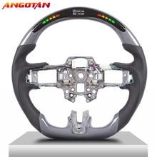 Carbon Fiber LED Race Digital Display Steering Wheel For Ford Mustang18-20