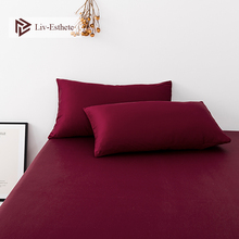 Liv-Esthete Wine Red 100% Nature Stranded Mulberry Satin Silk Pillowcase Wholesale Silky Healthy Pillow Case For Women Men Kids