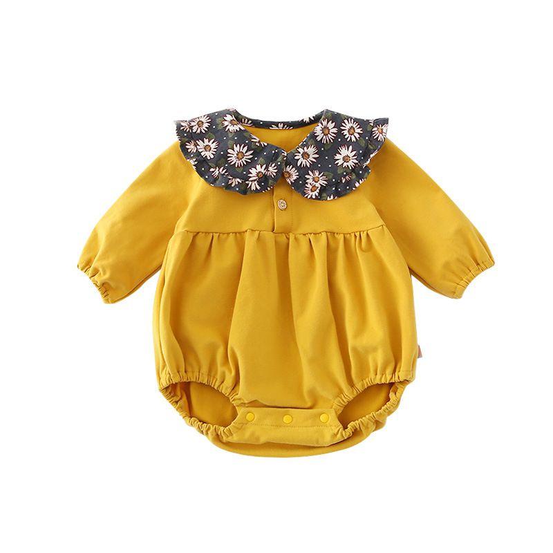 Infant Baby Girl Bodysuits Cute Long Sleeve Plaid Print Jumpsuit Bodysuit Kids Girls Clothes