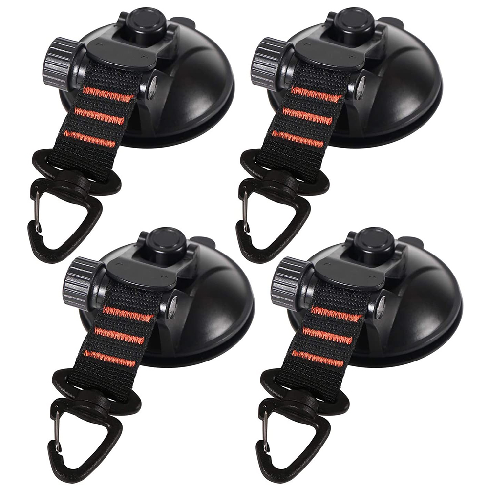 Heavy Duty Suction Cup Anchor w/Securing Hooks Car Camping Tarpaulin Accessories Car Mount Luggage Tarps Tents Anchor
