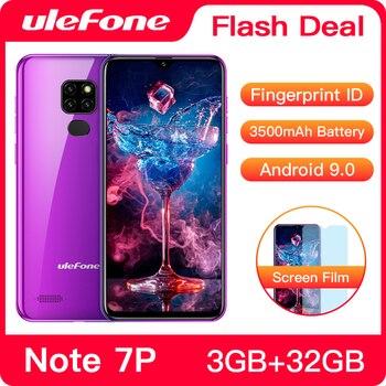 Перейти на Алиэкспресс и купить Ulefone Note 7P смартфон с четырёхъядерным процессором Android 9,0, 3500 мАч, 6,1 дюйма, 3 ГБ + 32 ГБ, 4G, мобильный телефон Android