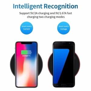 Image 4 - Sindvor Samsung için 10W hızlı kablosuz şarj cihazı S10 S20 S9 not 10 USB Qi şarj Pad iPhone SE 11 XS XR X 8 artı Airpods Pro