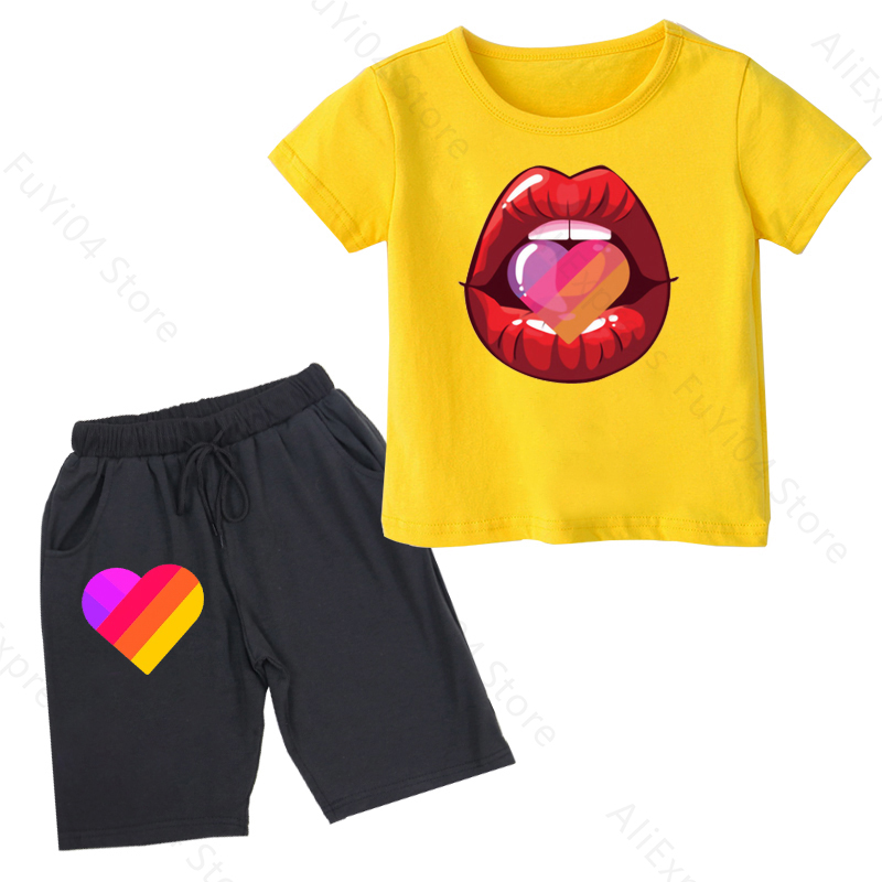 Likee summer children boy clothes 2020 sets kids 2pcs short