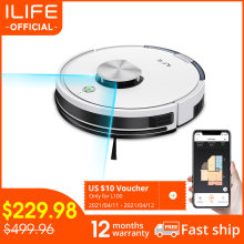 ILIFE L100 robot vacuum cleaner, LDS laser navigation, carpet pressurization, Smart Planned WIFI App Remote Control,Draw Clean
